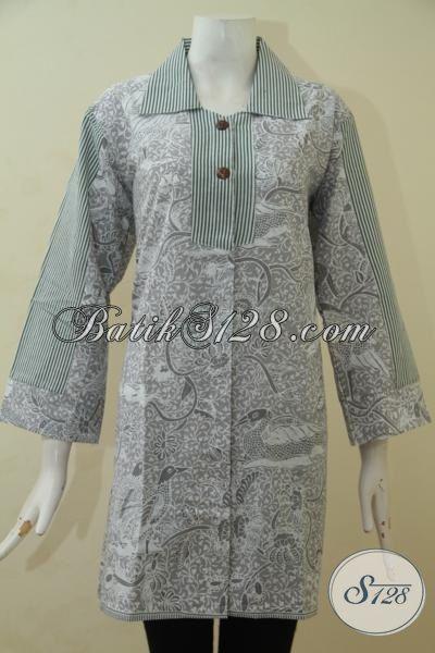 Agen Baju Batik Wanita Jual Online Blus Batik Terbaru Dengan Motif Dan Model Yang Lebih Berkelas, Busana Batik Print Murmer Kwalitas Mewah [BLS3478P-M]