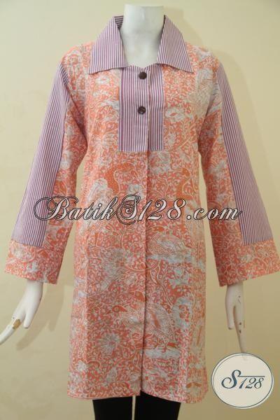Tempat Beli Baju Batik Wanita Terlengkap, Sedia Pakaian Batik Model Terbaru Khas Wanita Muda Tampil Mempesona, Proses Printing [BLS3480P-L]