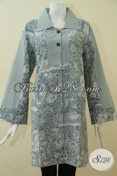 Produk Busana Batik Wanita Size XL, Pakaian Batik Masa Kini Berbahan Batik Printing Halus Untuk Tampil Lebih Modis Dan Keren