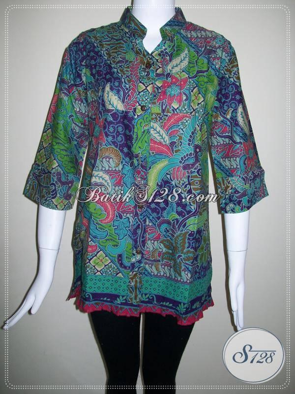Baju Batik Untuk Busana Kerja Blus Batik Model Modern Dan Motif