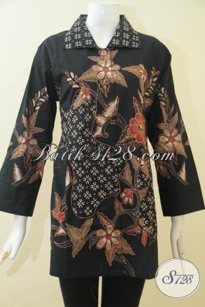Blus Batik Bagus Harga Terjangkau, Pakaian Batik Motif Keren Proses Tulis Ukuran XXL Pas Banget Untuk wanita Berbadan Gemuk