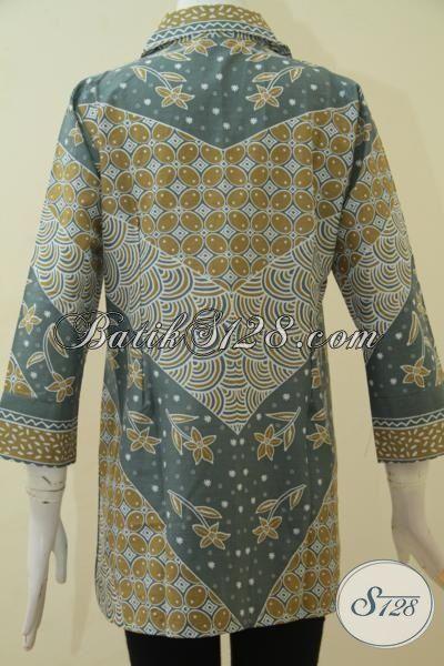 Blus Batik Printing Desain Keren Trend Masa Kini, Baju Seragam Batik Wanita Muda Tampil Lebih Modis Dan Anggun, Size M – L