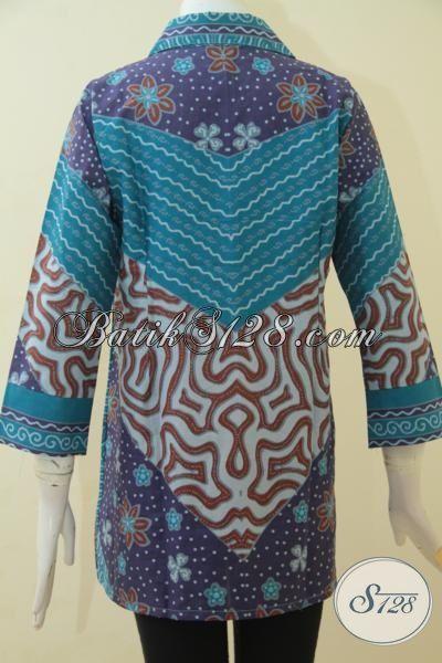 Batik Blus Istimewa Harga Murah, Busana Formal Motif Klasik Kwalitas Halus Proses Print, Cocok Untuk Ke Kantor [BLS3494P-XL]