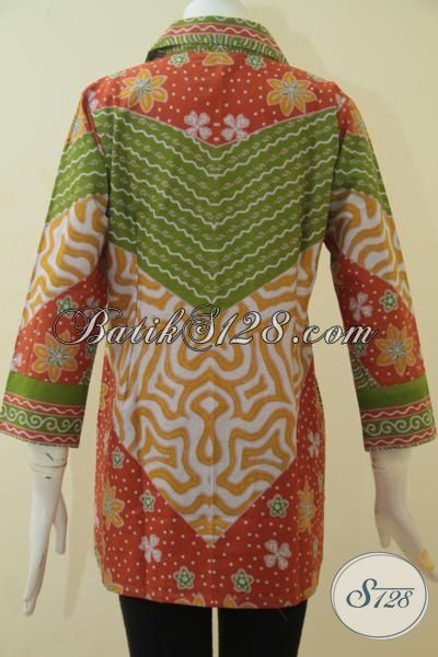 Produk Terbaru Blus Batik Wanita Muda, Baju Batik Motif Klasik Berbahan Halus Proses Printing Motif Terkini Untuk Tampil Lebih Stylist, Size M