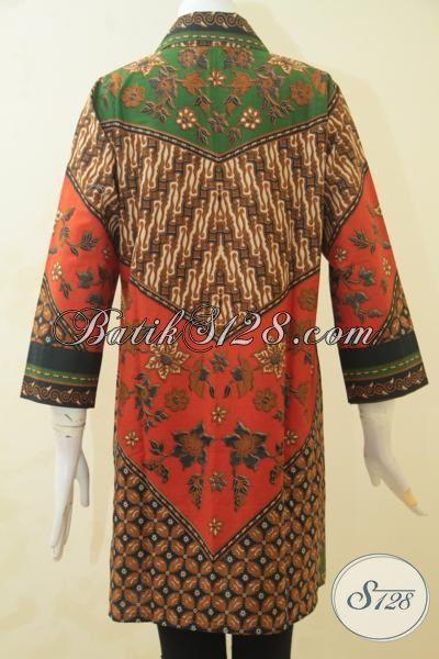 Toko Online Baju Batik, Jual Blus Batik Mewah Harga Murah Proses Print, Pakaian Batik Solo Terkini Tampil Modis Dan Modern, Size M