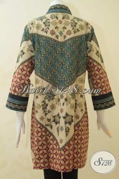 Toko Baju Online Sedia Blus Batik Modern Cocok Untuk Baju Kerja, Pakaian Wanita Masa Kini Dengan Bahan Halus Dan Motif Yang Mewah Proses Printing, Size S – L