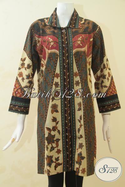Pakaian Batik Formal Untuk Perempuan Dewasa, Busana Batik Berkelas Motif Bagus Sekali Bisa Buat Ke Kantor Dan Kondangan, Size L