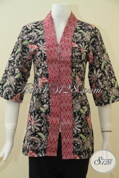 Online Shop Jual Baju Batik Dua Motif Model Mewah Dan Modern, Blus Batik Cap Tulis Warna Elegan Tampil Lebih Mempesona, Size S