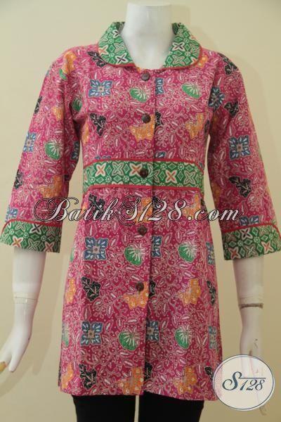 Blus Batik Kerja Terbaru Yang Banyak Di Cari Wanita Karir, Pakaian Batik Modis Berpadu Motif Dan Warna Menarik Membuat Penampilan Terlihat Sempurna, Size M