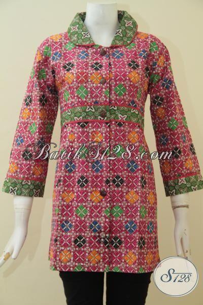 Toko Online Baju Batik Solo Paling Up To Date, Sedia Blus Batik Cewek Desain Terkini, Batik Cap Tulis Baju Buat Ke Kantor Dan Acara Formal Untuk Terlihat Makin Berkelas, Size M