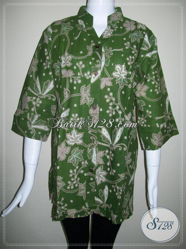 Toko Online Aneka Baju Batik Pria Dan Wanita,Baju Batik Wanita Untuk Kerja Kantor [BLS355BT-XL-100]