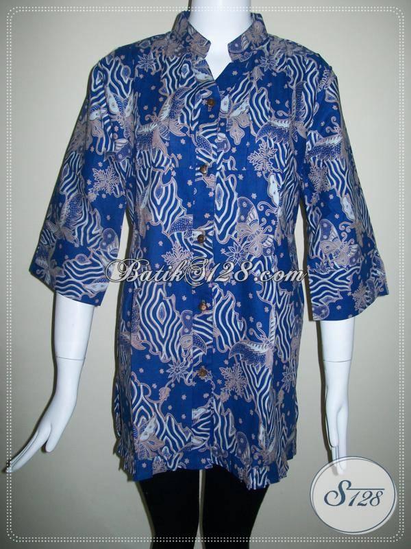 Model Baju Batik Terbaru Untuk Batik Wanita 2013 [BLS356BT-L-100]