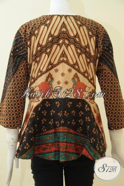 Batik Blus Klasik Istimewa Desain Berkelas Cocok Buat Seragam Kerja, Busana Batik Wanita Karir Tampil Elegan Dan Rapi, Size M
