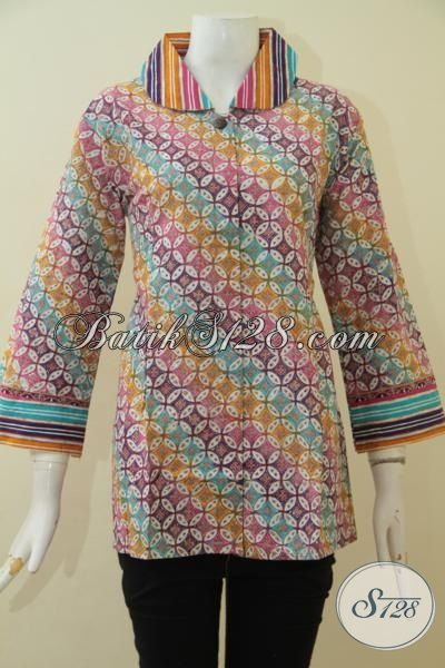 Toko Online Batik Terlengkap Dan Terpercaya, Jual Pakaian Batik Jawa Istimewa Motif Terkini Dengan Modis Serta Berkelas Proses Cap Tulis [BLS3589CT-L]