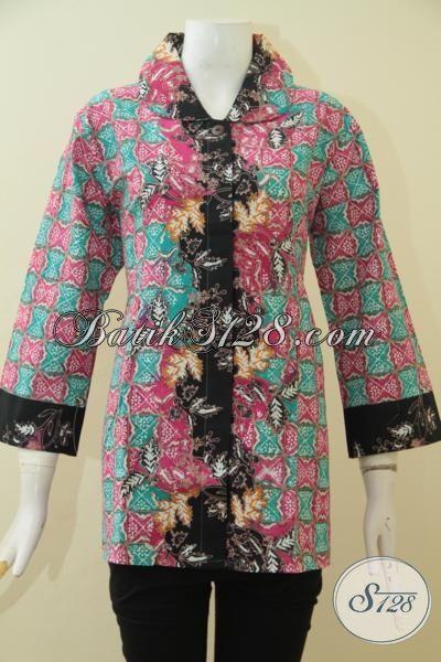 Pusat Upgrade Fashion Batik Wanita, Jual Online Blus Batik Terbaru Model Mewah Dengan Harga Terjangkau, Proses Cap Tulis, Size L