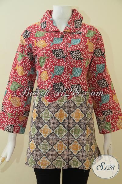 Pakaian Batik Dual Motif Model Terbaru Ukuran Jumbo Baju