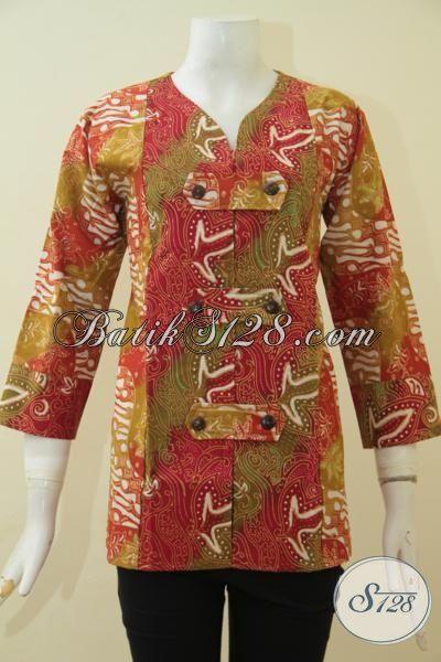 Pakaian Batik Wanita Muda Ukuran Kecil S, Baju Batik Bagus Dan halus Proses Cap Tulis  Produk Terbaru Dari Solo Motif Berkelas