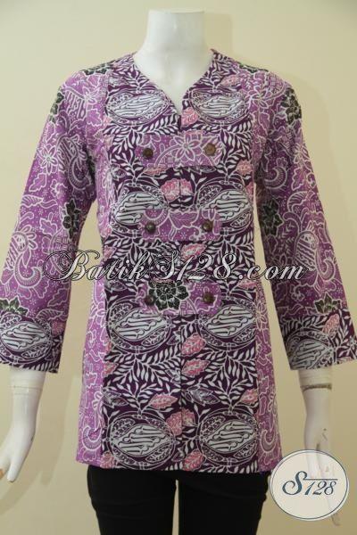 Jual Baju Batik Blus Wanita Muda Dan Dewasa Size L Yang Cocok Buat Kerja Dan Pesta Formal, Produk Batik Masa Kini Motif Terbaru Proses Cap Tampil Gaya Dan Mempesona, Size L