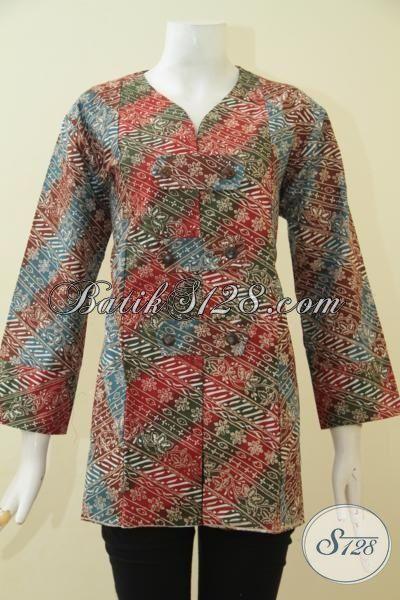 Baju Atasan Wanita Berbahan Batik Cap Tulis Kwalitas Halus 19d1af5d6c
