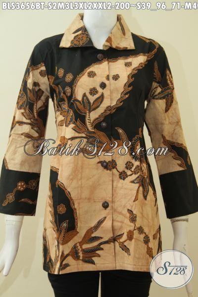 Aneka Batik Blus Warna Klasik Motif Modern Desain Istimewa, Pakaian Batik Jawa Etnik Elegan Proses Kombinasi Tulis Sangat Cocok Buat Wanita Karir, Size S – M – L – XL – XXL
