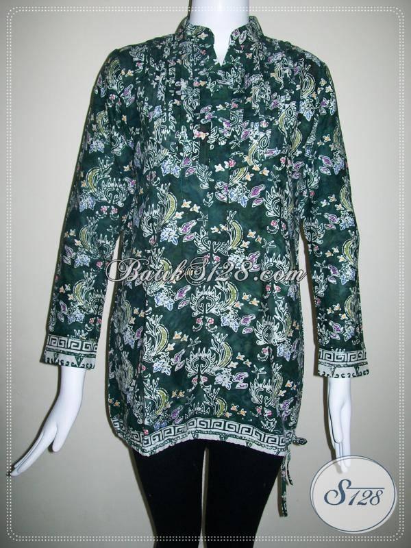 Baju Batik Lengan Panjang Model Blus Untuk Kerja Cocok Untuk