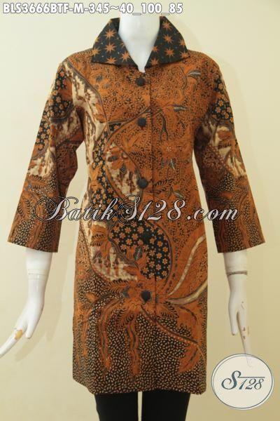 Jual Busana Batik Online Untuk Wanita, Blus Batik Klasik Desain Elegan Mewah Dan Modis, Pusat Baju Batik Solo Cewek Sumber Refersi Fashion Wanita Masa Kini
