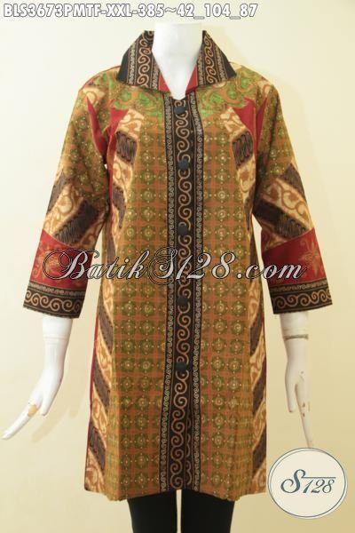 Baju Batik Cewek Ukuran Jumbo Busana Batik Kombinasi