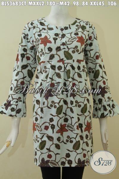 Baju Batik Cap Tulis Motif Unik Dan Trendy, Blus Batik Modis Dan Istimewa Spesial Untuk Wanita Muda Serta Dewasa, Size M – XXL