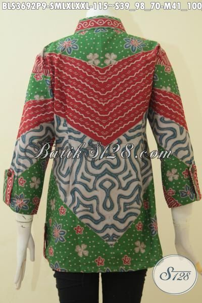 Sedia Busana Batik Kerja Wanita Muda Dan Dewasa, Pakaian Batik Elegan Desain Mewah Proses Print Harga Murmer, Size S – M – L – XL – XXL