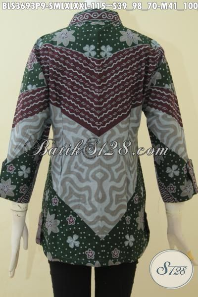 Baju Batik Istimewa Dengan Harga Murmer, Busana Batik Blus Halus Model Terbaru Proses Print, Pakaian Batik Kerja Wanita Muda Dan Dewasa Tampil Bergaya [BLS3693P-L]