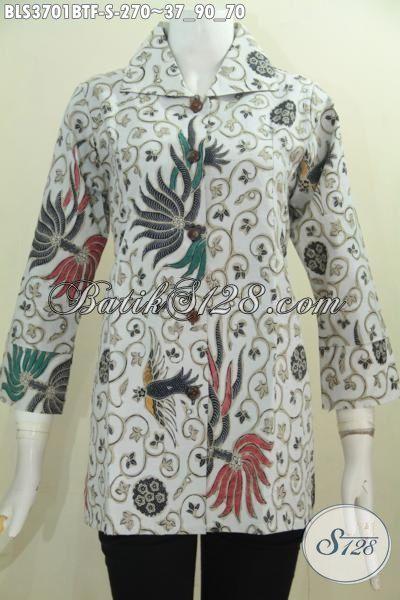 Jual Busana Batik Wanita Model Daleman Full Furing Lebih Mewah, Baju Batik Kombinasi Tulis Motif Elegan  Tampil Makin Menawan, Size S