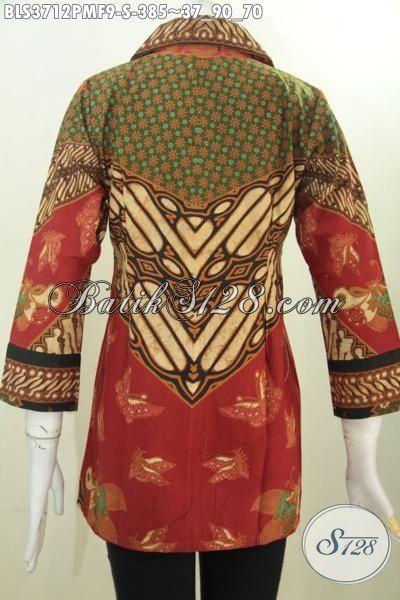 Sedia Busana Batik Klasik Elegan Motif Klasik Kwalitas Halus Kombinasi Tulis, Baju Batik Jawa Warna Mewah Daleman Full Furing Bikin Nyaman Di Pakai Setiap Hari, Size S