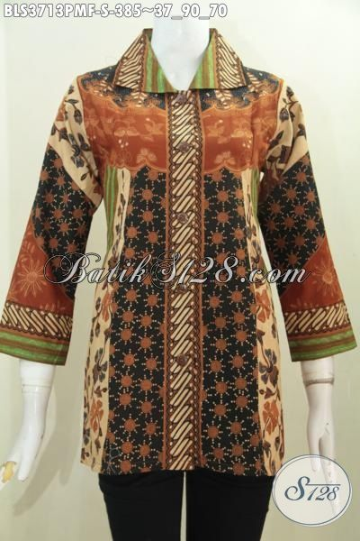 Baju Batik Klasik Kombinasi Tulis Ukuran S Buat Wanita Muda, Blus Batik Istimewa Kwalitas Premium Daleman Full Furing Tampil Makin Elegan