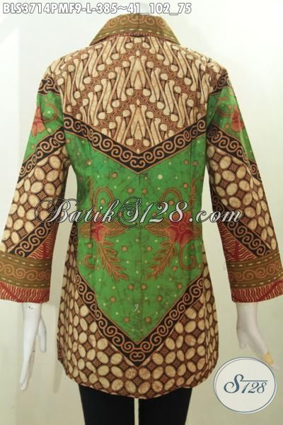 Baju Kerja Batik Terbaru Untuk Wanita Karir Blus Batik Elegan