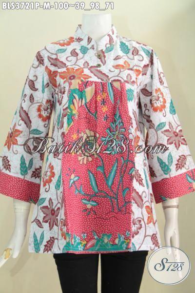 Jual Produk Batik Blus Solo Model Terkini Lebih Modis Dan Stylist, Baju Batik Jawa Modern Trend 2015 Tampil Gaya Dan Mewah Harga Murah, Size M