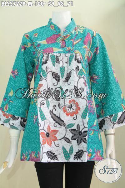Baju Batik Kombinasi Dua Motif Bunga Pakaian Batik Modern Model