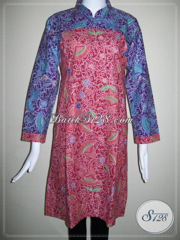 Baju Batik Model Modern Dan Motif Ikan Batik Kombinasi Dua