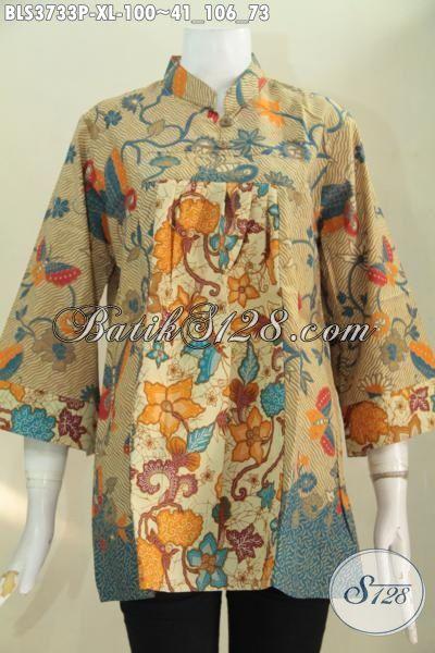 Baju Batik Dua Warna Bunga Bunga Dua Motif Model Baju