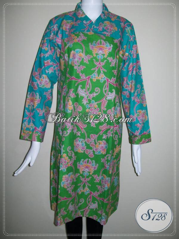 Baju Batik Motif Bunga Warna Hijau Trend Baju Model Bolero