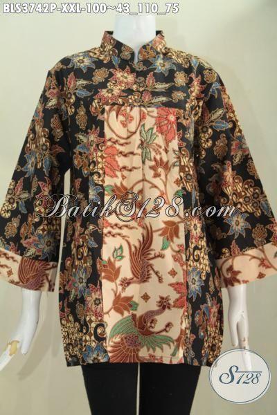 Agen Baju Batik Solo Online Pusat Rujukan Update Fashione Batik Wanita Masa Kini, Jual Blus Batik XXL Model Terbaru Proses Print Harga Murmer