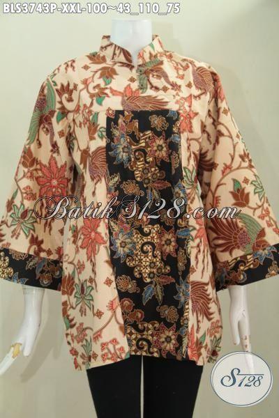 Batik Blus 3L Desain Mewah Terkini Berpaduk Kombinasi Dua Motif Berkelas Dan Warna Elegan Membuat Perempuan Gemuk Terlihat Langsing Dan Mempesona, Proses Printing