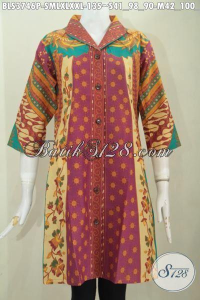 Pakaian Batik Wanita Masa Kini Modis Dan Keren, Baju Batik