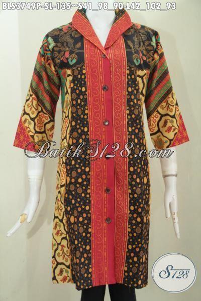 Produk Baju Batik Cewek Model Terbaru Berbahan Batik Motif Klasik Kombinasi, Blus Batik Elegan Kwalitas Istimewa Trend Mode Terbaik Tahun Ini Proses Printing, Size S – L