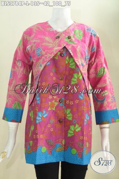 Toko Busana Batik Paling Up to Date, Jual Online Blus Balero Trend Mode Pakaian Wanita Modern Untuk Kerja Dan Hangouts Proses Printing Halus Harga Terjangkau, Size L