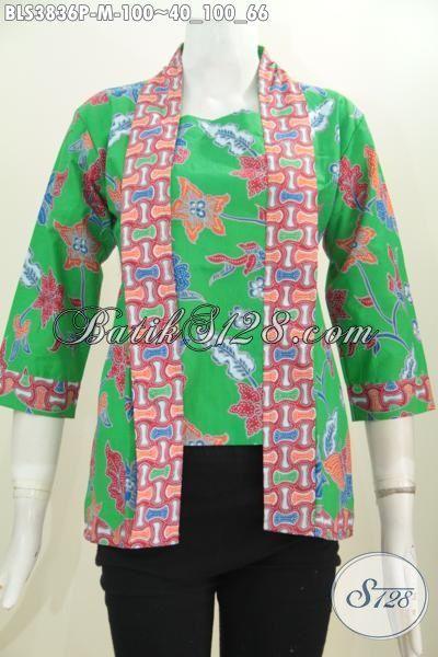 Batik Blus Kutubaru Murmer Kwalitas Bagus Desain Mewah, Baju Batik Seragam Kerja Wanita Muda Tampil Modis Dan Stylish, Size M