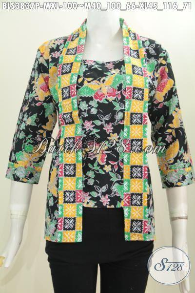 Baju Batik Wanita Muda Dan Dewasa Model Kutubaru, Blus Batik Berbahan Halus Motif Unik Proses Printing Tampil Gaya Dan Mempesona, Size M – XL