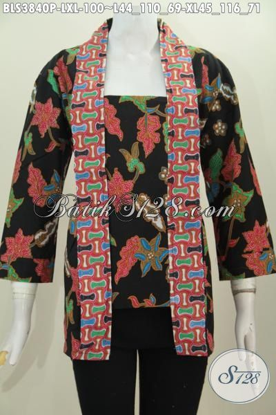 Produk Baju Batik Wanita Muda Dan Dewasa Buat Seragam Kerja Dan Pesta, Blus Batik Model Kutubaru Trend Mode Masa Kini Bikin Penampilan Makin Anggun, Size L – XL