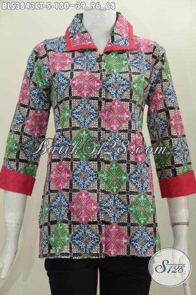 Juragan Busana Batik Online, Sedia Blus Plisir Kerah Polos Buatan Solo Trend Model Pakaian Wanita Terkini, Berbahan Bagus Motif Unik Proses Cap Tulis Harga Terjangkau, Size S