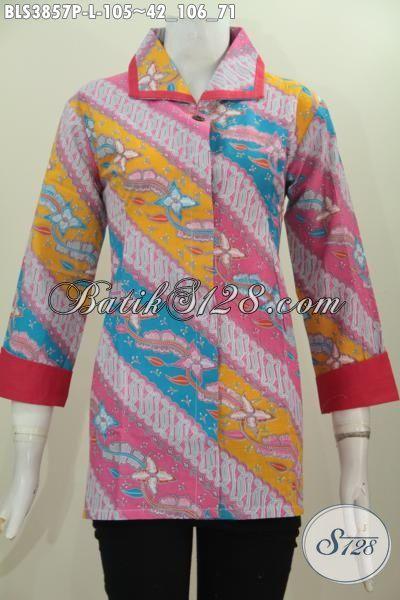 Baju Seragam Kerja Dan Pesta Model Blus Plisir Keren Dan Berkelas, Baju Batik Cewek Ukuran L Motif Mewah Tampil Modis Dan Bergaya Dengan Harga Murmer