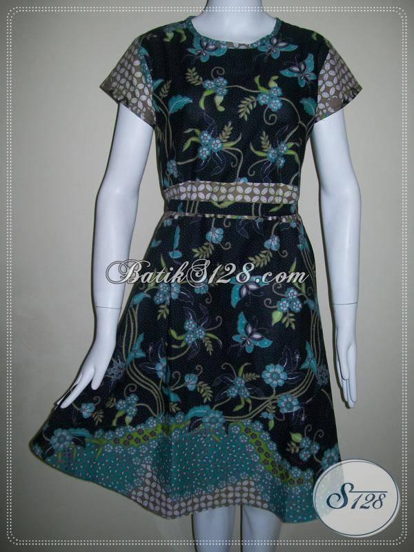 Koleksi Terbaru Dress Batik Lengan Pendek Tampil Cantik Dan